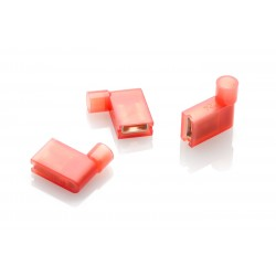 Red Insulated Flag Terminals, Pack of 100
