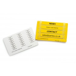 PFC Marker Cards 21mm x 4.2mm Tag Inserts for Transparent Holders, Pack of 25