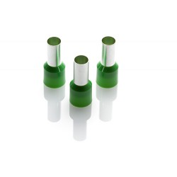 16.0mm Long Cord End Ferrule, Green German Type, 1000 Pieces