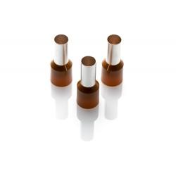 25.0mm Long Cord End Ferrule, Brown German Type, 100 Pieces