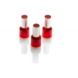 35.0mm Cord End Ferrule, Red, 100 Pieces