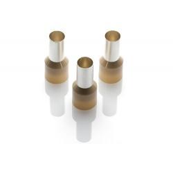 35.0mm Cord End Ferrule, Beige, 100 Pieces