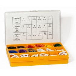 Cable Marker Kit, PZ02 (Size B) Straight Cut Colour Coded Markers