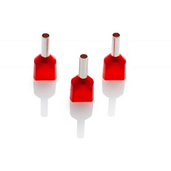 1.5mm Twin Cord End Ferrule, Red, Pack of 1000